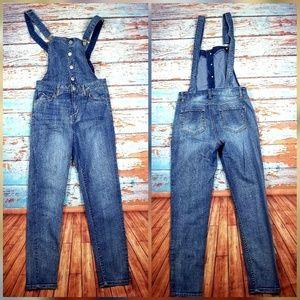 "Highway jeans overalls blue sz 7/8 insm 27"""